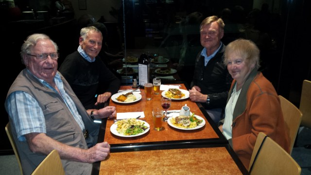 Dinner with Peter and Helen