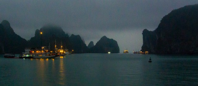 Evening Approaches Halong Bay